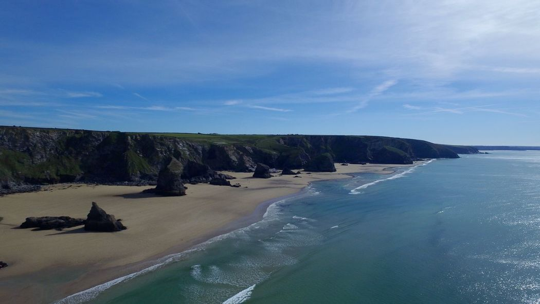 Bedruthan Steps, Cornwall from the air. Check This Out Hanging Out Hello World Bedruthansteps Being A Beach Bum Sea Enjoying The Sun Beach Unique Stunning Oneofakind Landmark Enjoying Life Taking Photos Relaxing Check This Out Bedruthan Steps Padstow Cornwall Devon