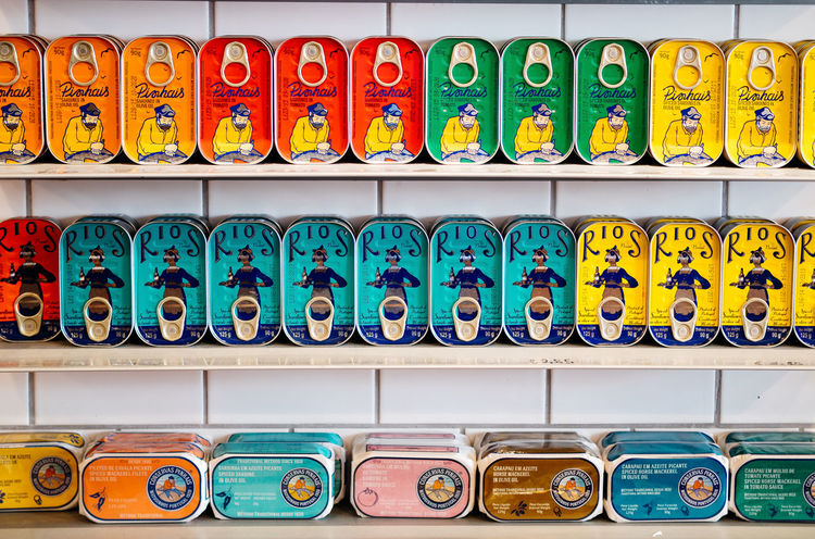 For the cat... Food Stories Colors Choice Colorful Day Fish Fishcans For Sale In A Row Indoors  Large Group Of Objects Multi Colored No People Sardines Variation Fivedaysporto