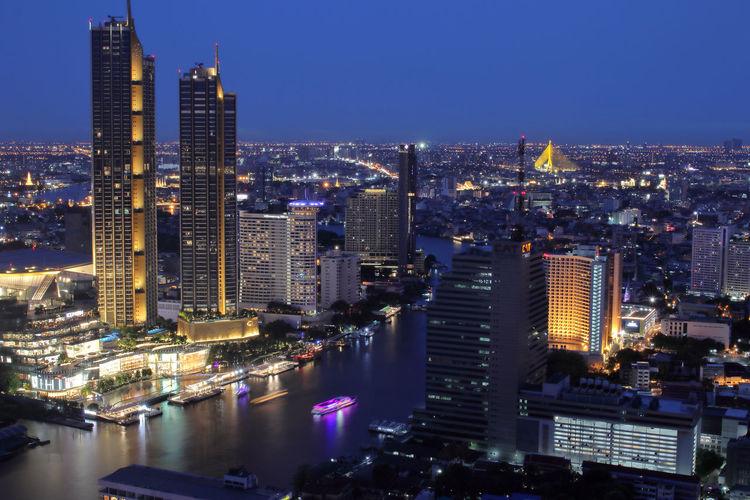 Bangkok metropolis in the night thailand southeast asia