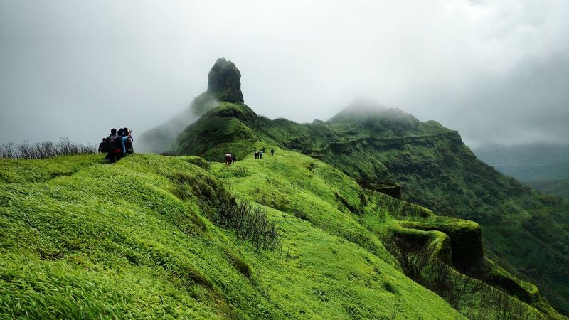 Fog Nature Outdoors Mountain Landscape Cloudporn Vacations Trekking Trekker Travel Destinations Trekking Nature Love Trekking Travelling Sightseeing [ Sahyadri Mountains Field Water Agriculture People Day Irrigation Equipment Sky