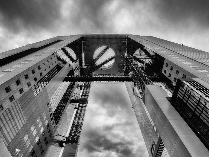 Umeda Sky Bldg. Japan Japan Photography OSAKA Osaka,Japan Architecture Building Exterior Built Structure Cloud - Sky Day Low Angle View No People Outdoors Sky Streetphotography Umeda Sky Building Stories From The City