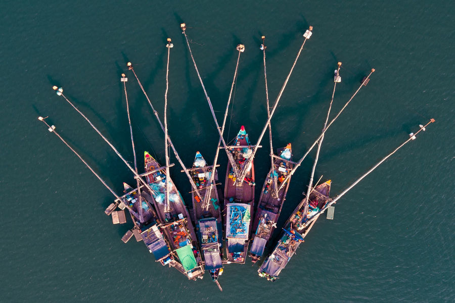 Aerial Shot Bai Tu Long Bay Ha Long Aerial Aerial Photography Aerial View Boat Close-up Day Dronephotography Ha Long Bay High Angle View Indoors  Nautical Vessel No People Sea Water Weapon