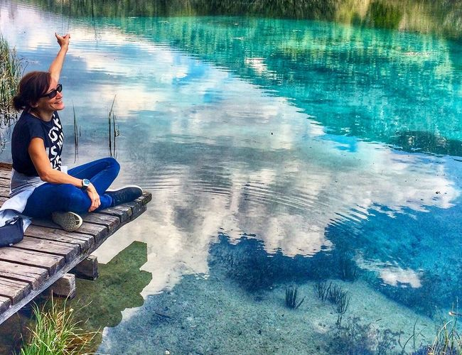 Touching the sky Nature Photography EyeEm Best Shots EyeEm Nature Lover The Great Outdoors - 2018 EyeEm Awards Water Reflection One Person Pool Nature Leisure Activity Lifestyles Outdoors Relaxation