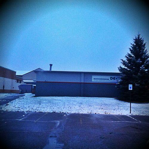DEQ Marquette (Gwinn ) office. Snow in October ...