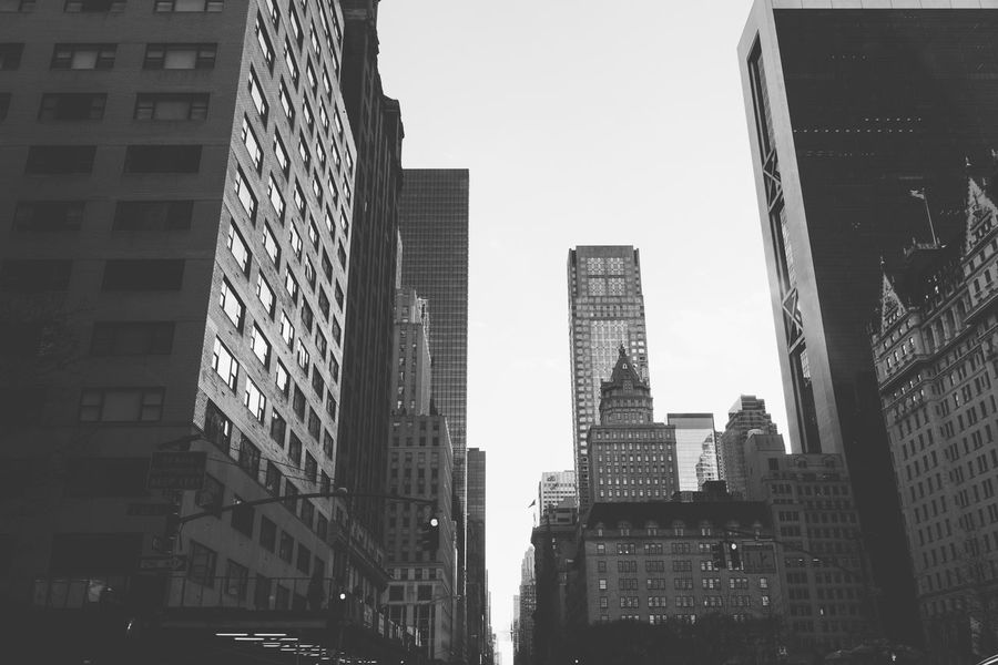Architecture VSCO Architecture Blackandwhite Building Exterior Built Structure City Cityscape Clear Sky Day Low Angle View Modern No People Outdoors Sky Skyscraper Streetphotography Tall Vscocam