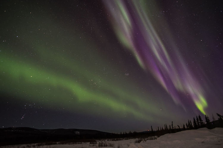 Aurora Aurora Borealis Fine Art Photography Northern Lights Wonderful Alaska Arctic Astronomy Beauty In Nature Celestial Climate Colorful Existentialism Inspiring Landscape Mood Mystery Night Space And Astronomy Space Exploration Star - Space Starry Stars Tranquility