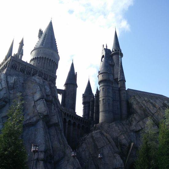 Architecture Building Exterior Clock Tower Sky Outdoors Hogwarts Wizard Castle Tower Orlando Florida USA Usa Trip America Roller Coaster Theme Park Harry Potter