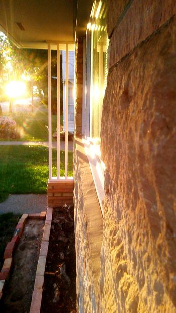 Built Structure No People Outdoors Architecture Day Water Nature Sunset Dramatic Sky Pastel Colored Warm Bricks Texture Sunbeam Sunbeams