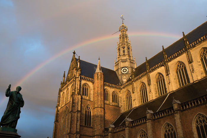 Architecture Cathedral Church Cloudy Double Rainbow Double Rainbows Haarlem Overcast Rainbow Rainy Days Sint Bavo Sint Bavokerk Spirituality Sunset The Street Photographer - 2017 EyeEm Awards The Great Outdoors - 2017 EyeEm Awards The Architect - 2017 EyeEm Awards