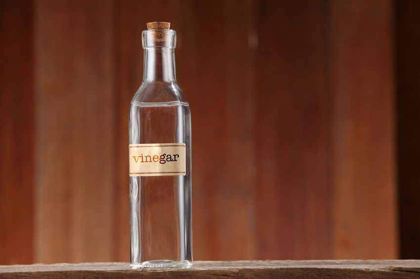 white vinegar on wooden background Container Cooking Cuisine Food And Drink Liquid Retro Acetic Alcohol Bottle Clear Closed Condiment Food Glass - Material Healthy Eating Ingredient Label No People Object Organic Transparent Vinegar Water White Vinegar Wooden Background