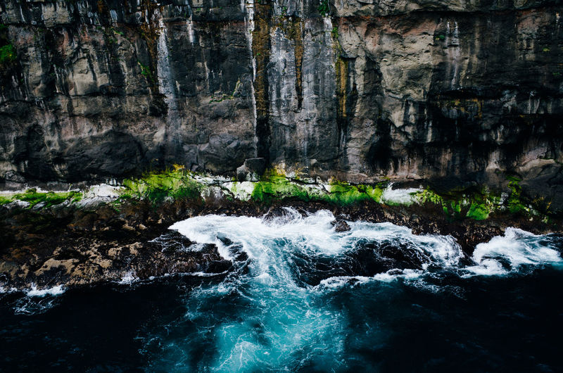Beauty In Nature Day Faroe Islands Flowing Water Forest Freshness Färöer Long Exposure Motion Nature No People Outdoors Power In Nature Scenics Splashing Tranquil Scene Tranquility Tree Water Waterfall