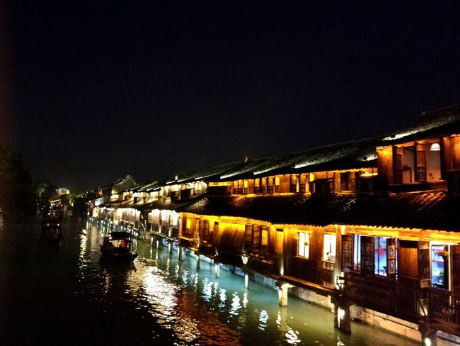 Wuzhen town. Wuzhen Town China Town China Beauty China Culture Travel Nightshot Night Lights River Boats⛵️