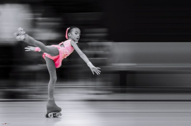 Patinadora! Ice Rink Ballet Dancer Flexibility Skill  Females Motion Dancer Ballet Stage Costume Performance Ice Skate Ice Hockey Ballet Studio Ice-skating Acrobat