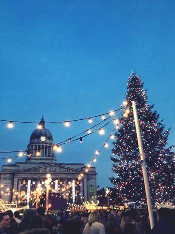 Christmas Market Tree Lights