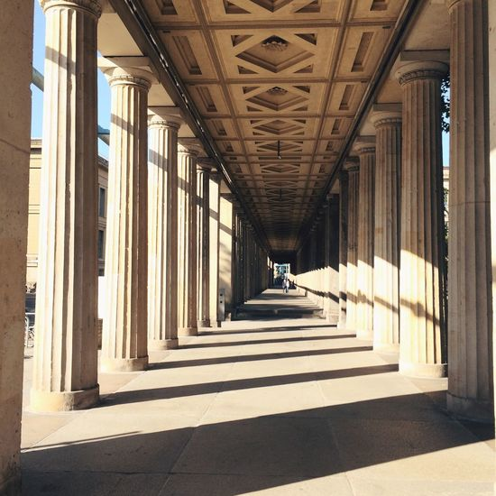 Colonnades in early morning light Museum Island Berlin Light And Shadow Architecture Endlessness