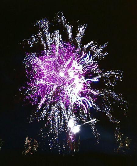 Fire Blue Sky Artificial Fire Colors Pyrotechnics