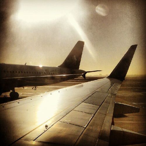 Preparping for TakeOff @ Sfo . Flight Airplane Travel Instaflight Plane Runway