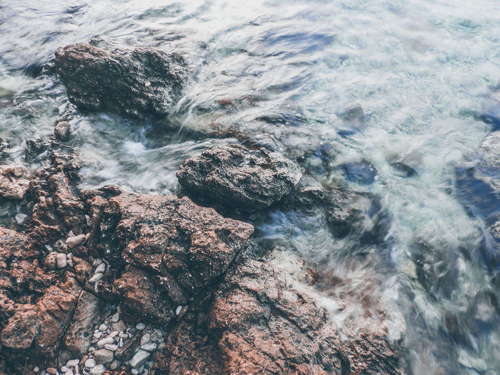 Long Exposure Summer Island Hvar Stari Grad Croatia Blue Rock - Object Land Water Sea Wave Backgrounds Beach Full Frame High Angle View Aerial View Close-up Pebble Beach Ocean Rushing Power In Nature Tide Coast Calm My Best Photo Analogue Sound