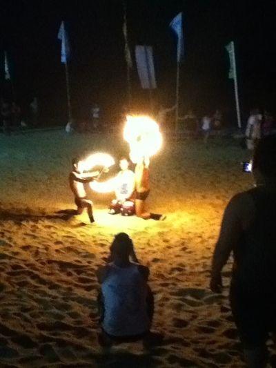 fire dance white beach galera