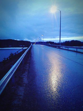 Taking Photos Bridge Blue Finland