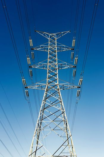 Low Angle View Electricity  Electricity Pylon Clear Sky Connection Sky Technology No People Day Outdoors Tower Anntenas Metal Structure Nikon D5100