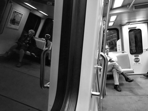 Notes From The Underground Subway Monochrome Black And White Transportation Street Photography Reflection IPhoneography Taking Photos City Life