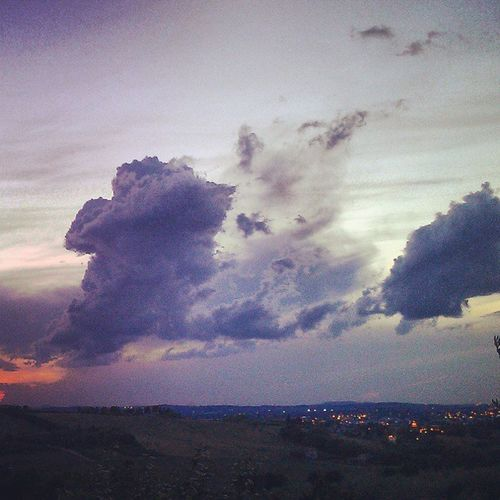 Scary Clouds :o Home Italy Clouds And Sky Tempesta Beautiful Sky Lotsofcolor Summer2014 Sky_painter Sunset And Clouds  Panoram-art