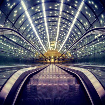 Metro Metro Station Subway Lights Stairs Otis Night Tunnel