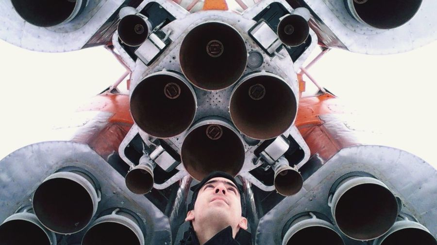 One Man Only One Person Human Body Part Science Aerospace Industry Close-up Eyesight People Day Rocket Winter Russia Space SpaceShip