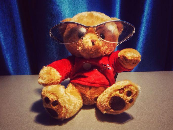 Table Teddybear Glasses Fun Lol :) First Eyeem Photo