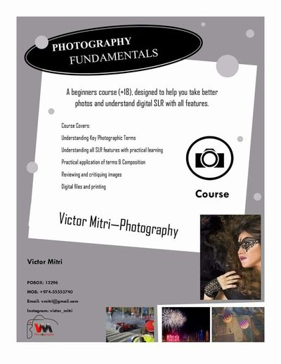 Photographylovers Photograpghycourse Learning Fundementals Photograpghy Photograpghers SLR Capture Doha Qatar