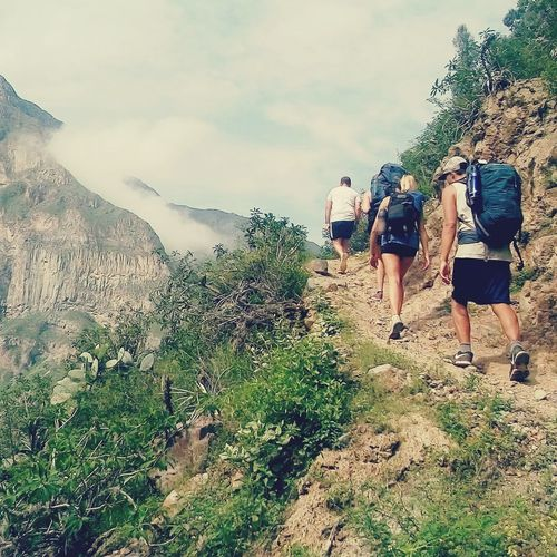 Caminante no hay camino, se hace camino al andar... First Eyeem Photo trekking travelling sightseeing Trekking Nature Love Colca Canyon Colca  Perù 🇵🇪 Second Acts