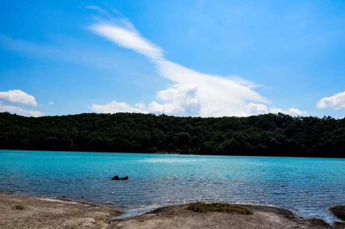 Caldera lake Caldera Lake Caldera Nature Sky Water Scenics Beauty In Nature Cloud - Sky Tranquility Tree No People Day Outdoors Blue Sea Tranquil Scene One Animal Nikon D3200 Landscape katanuma , Miyagi /JAPAN Adventure Been There.