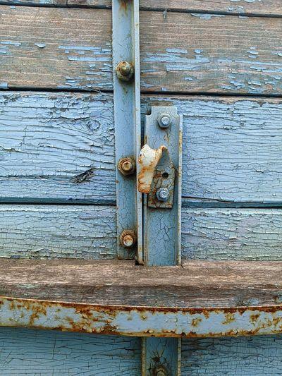 Full frame shot of rusty metal door