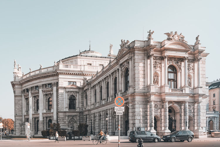 Burgtheater in Vienna Vienna Architectural Column Architecture Building Exterior Built Structure Burgtheater Burgtheater Wien City Day History Nature Outdoors Ringstrasse Sky The Past Theatre Tourism Travel Travel Destinations