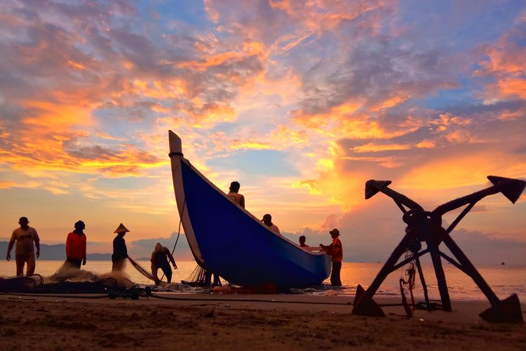 Aceh Culture Aceh INDONESIA Photography City Sea Sunset Water Beach Silhouette Nautical Vessel Sun Sand Sky Rushing Wave Longtail Boat Shore Waterfront Tide Scenics Fishing Net Water Sport Krabi Wake Surfing Tranquil Scene Fishing Industry Windsurfing Kiteboarding Fishing Boat Commercial Fishing Net Trawler