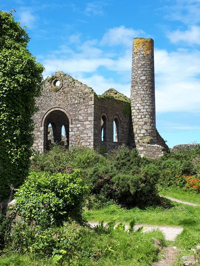 History Architecture Ancient Built Structure Day Building Exterior Travel Destinations Outdoors No People Grass Sky Nature Cornish Tin Mine Revolution Cornwall Uk Cornwall Cornishmine Architecture Arch Grass