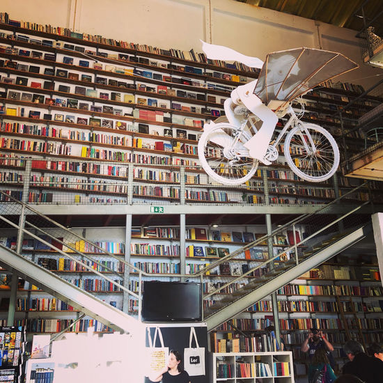 Interior of bookshop in LX Factory in Lisbon, Portugal Lisbon Portugal Bookshop Bookshelf Lx Factory Architecture Indoors  Shelf Book Built Structure Publication