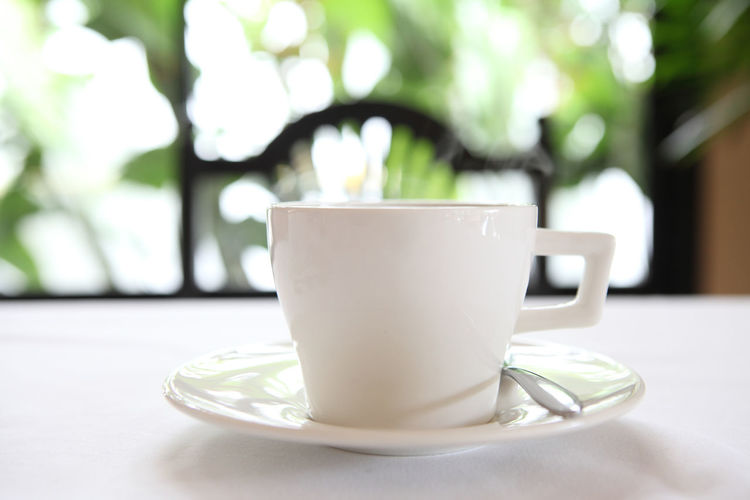 Mug Cup Crockery Table Food And Drink Coffee Cup Saucer Refreshment Drink Coffee Focus On Foreground Still Life Coffee - Drink Close-up No People White Color Day Hot Drink Spoon Freshness Tea Cup Non-alcoholic Beverage