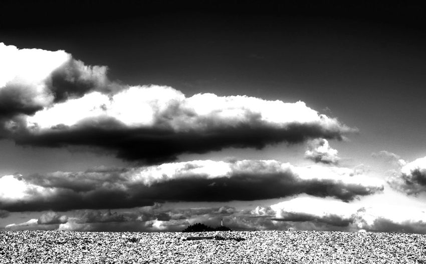 Pebble Beach Beach Blackandwhite Nature Sky Outdoors Day Scenics Cloud - Sky No People First Eyeem Photo