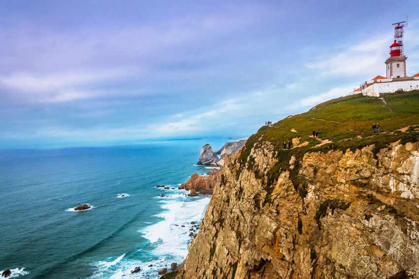 Astrology Sign Beach Beauty In Nature Cabo Da Roca Cliff Cloud - Sky Coastline Day Horizon Over Water Nature No People Outdoors Portugal Rock - Object Scenics Sea Sky Travel Destinations