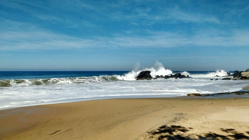 Crashing Pacific Ocean waves Sea Beach Sand Wave Nature Water Outdoors Travel Destinations Vacations Power In Nature Crashing Powerful Waves Pacific Ocean Mexico Riviera Nayarit An Eye For Travel