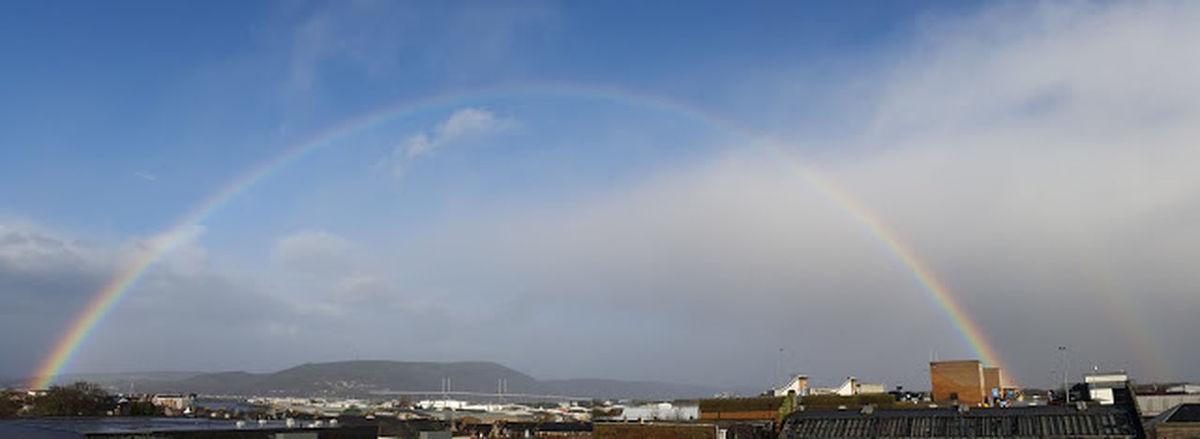 Beautiful Rainbow Inverness 2016 Inverness Highlands United Kingdom Rainbow Kessockbridge 2016 StAnphotos96 Scottish Weather Weather