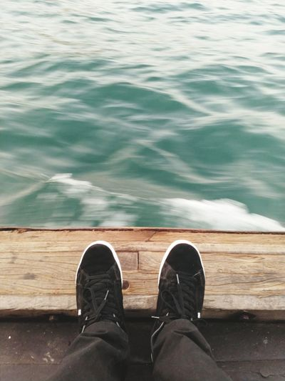 Tranquility EyeEm Best Shots EyeEmNewHere Dubai Abraboat Shoe Personal Perspective Water Close-up