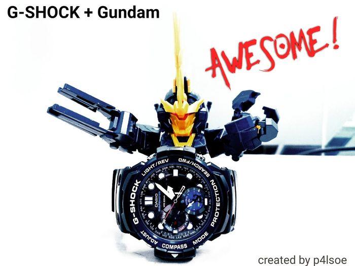 G-SHOCK and Gundam, by p4lsoe G-shock Gundam P4lsoe