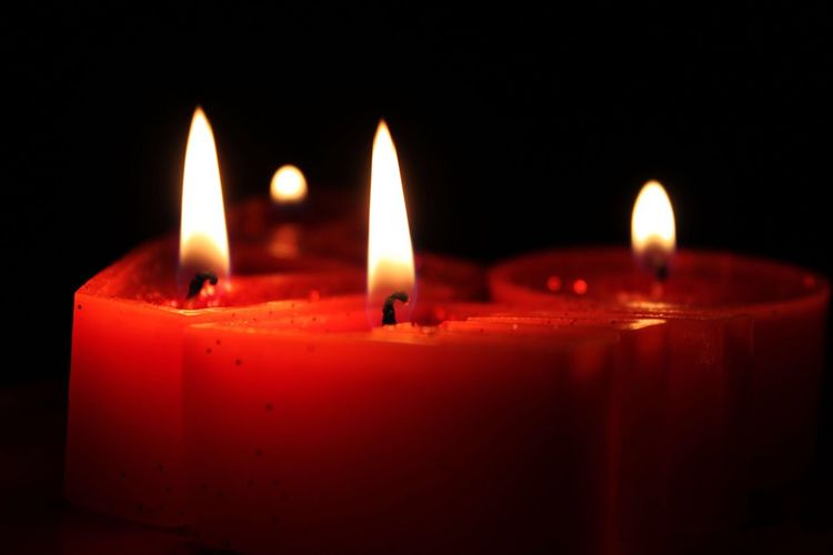 Love Flame Candle Burning Heat - Temperature Glowing Illuminated Close-up Night Indoors  No People