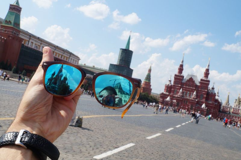 Adult Architecture Building Exterior Built Structure Camera - Photographic Equipment City Close-up Cloud - Sky Day Holding Human Hand Lifestyles Men Moscow One Person Outdoors People Photographing Real People Reflections Russia Sky Sunglasses Travel Travel Destinations The Street Photographer - 2017 EyeEm Awards