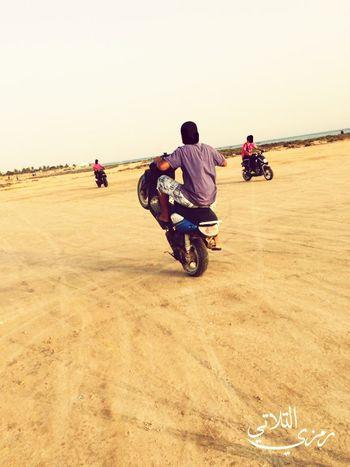 Motorcycle Transportation Adults Only People Day Desert Outdoors Men Motocross Adult Cross Transportation جربة  تونس Vacations ڨلالة Trekker