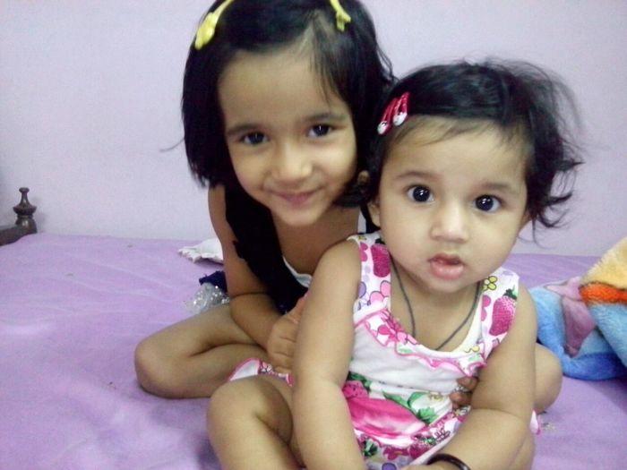 My sweet little angels :) MY WoRld To UR EYes :) Little Angels Sweet Heart Color Portrait