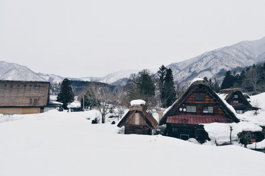 Snow Winter Cold Temperature House Outdoors Frozen Mountain Nature Snowing Day Building Exterior Built Structure Tree Vacations No People Architecture Beauty In Nature Snowflake Sky Warm Clothing